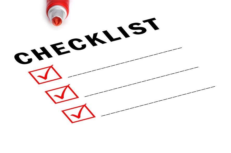 Kortere versie van een checklist